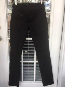 BCBG-Women-039-s-Marisol-Slim-Black-Steel-Jeans-Back-Buckle-Sz-27-X-35-Long-Stretch
