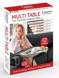 Black Folding Table Buddy  Full Height Bedside Portable Adjustable Desk Mobile