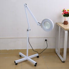 5x magnifying lamp ajustable arm rolling floor stand facial skin 5x diopter rolling floor stand magnifier lamp glass magnifying facial adjustable mozeypictures Choice Image