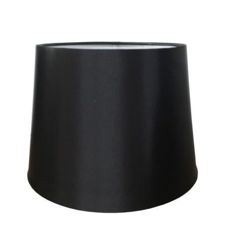 """BRAND NEW 10/"""" PENDANT OR TABLE LAMP SILK LOOK SHADE IN BLACK COLOUR"""