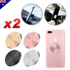 2x Replacement Metal Plate Disc for Magnetic Car Dash Phone GPS PDA Mount Holder