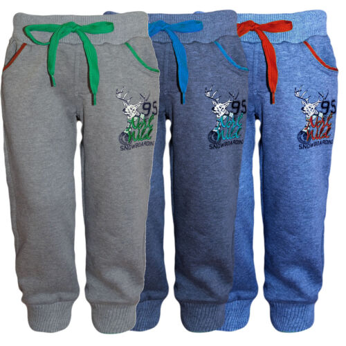 Bambini Ragazzo Pantaloni Sportivi Pantaloni Allenamento Ginnastica Jogging Pantaloni tempo libero Sweat Pantaloni Nuovo