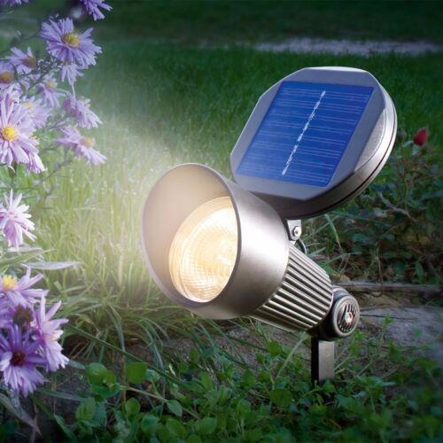 LED Solarstrahler warmweiß Solarleuchte Wandlampe Solarlampe Gartenlampe Lampe *