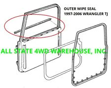 Outer Window Felt Sweep Belt Kit For 97 06 Jeep Wrangler Tj Pair Fits 1999 Jeep Wrangler