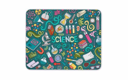 Science Theme Mouse Mat Pad Biology Physics Chemistry Gift Computer Gift #8169