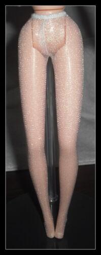 Meias Mattel Boneca Barbie Quebra-nozes Branco Cintilante Ponto Toe Meia-calça