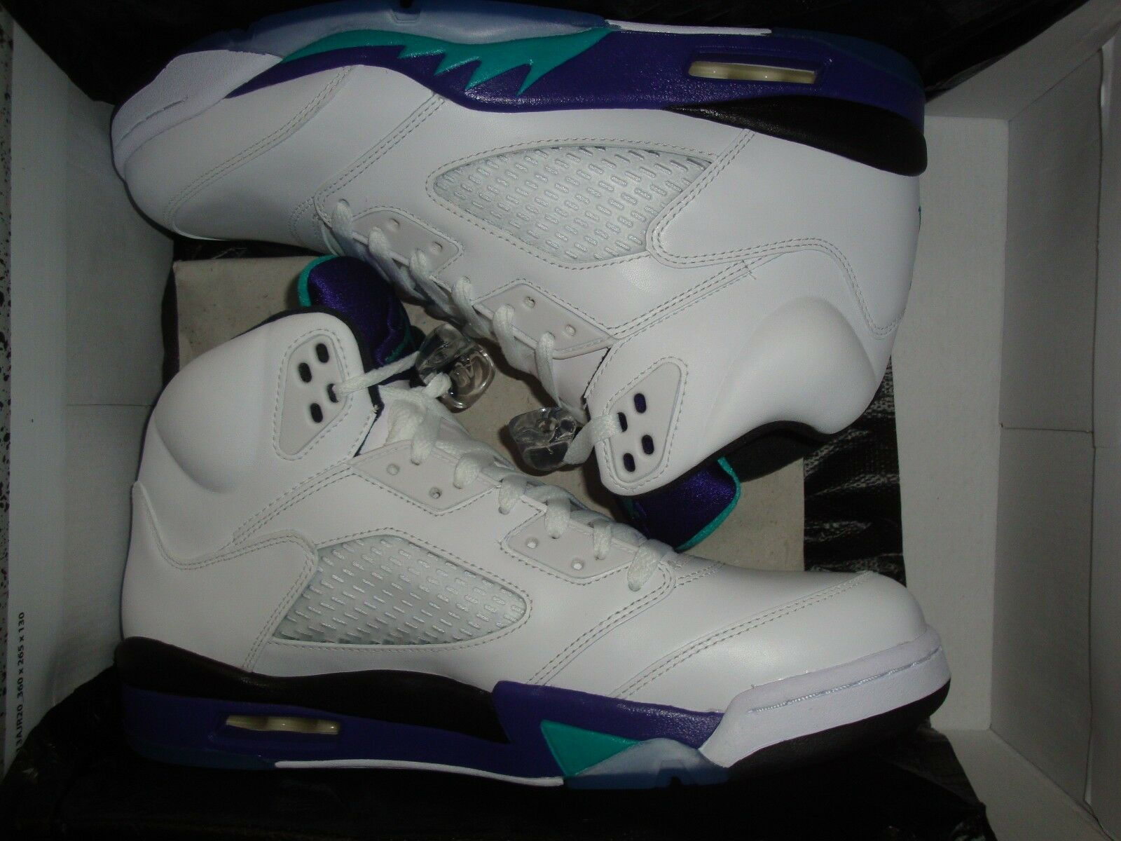 NEW IN BOX 2013 NIKE AIR JORDAN RETRO 5 V GRAPE GRAPES MEN'S SIZE 11 W/RECEIPT