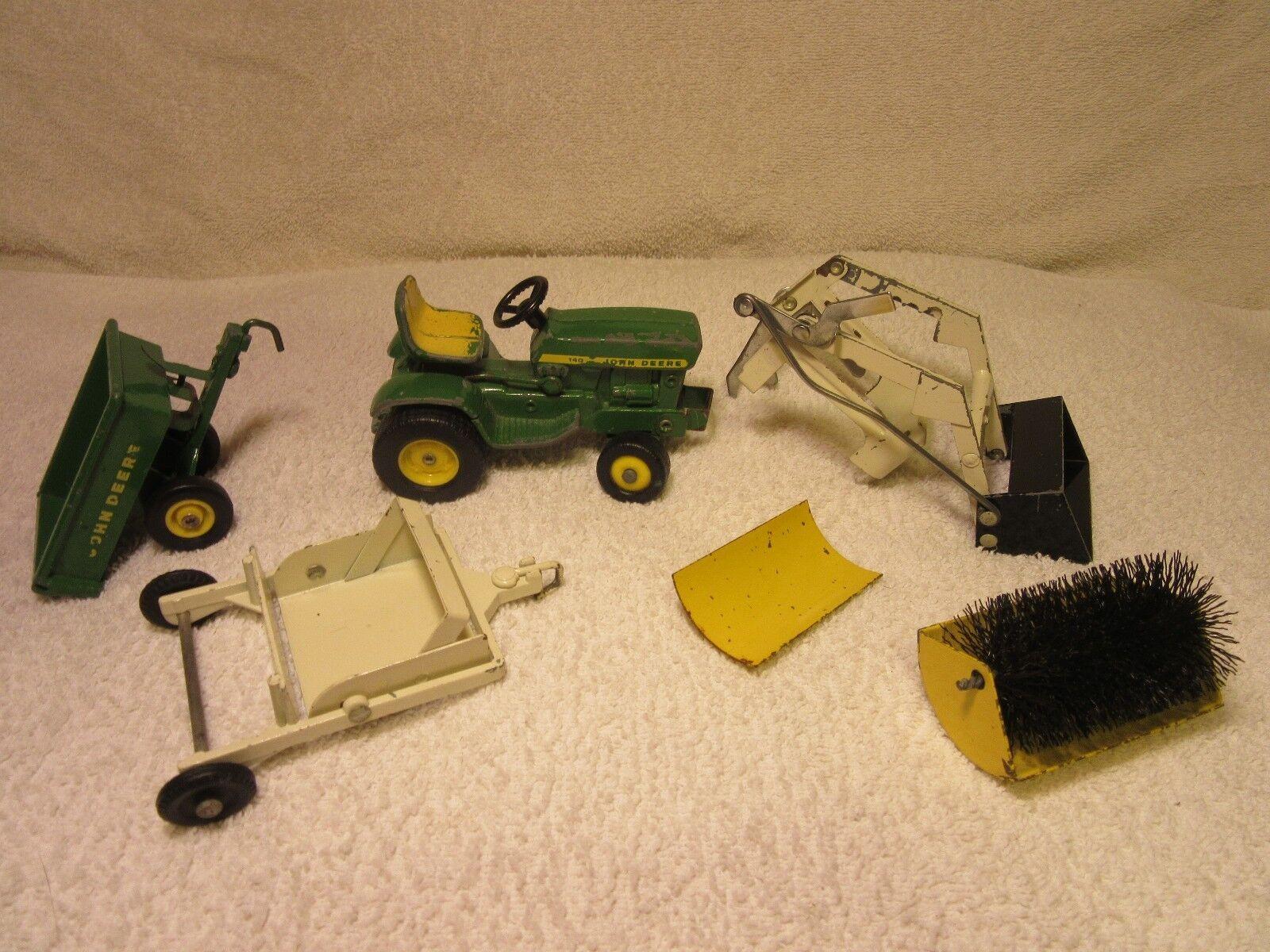 John Deere 140 conjunto de equipos de mantenimiento motivos Tractor de jardín rara completa