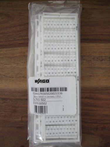 1-10 2x Platte WAGO 793-502 Bezeichnungssystem Aufdruck