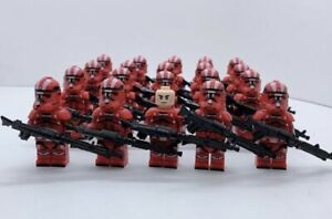 20x-Red-Clone-Troopers-Mini-Figures-LEGO-STAR-WARS-Compatible