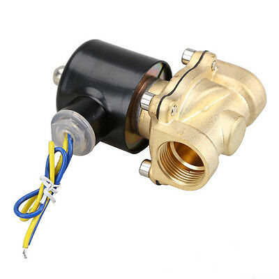 2W-200-20 3/4 Inch Brass Electric Solenoid Valve Water Air Fuels N/C DC 12V