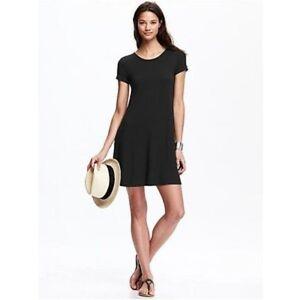 4ee58633ac35e Image is loading Old-Navy-Women-039-s-Black-Swing-Dress-