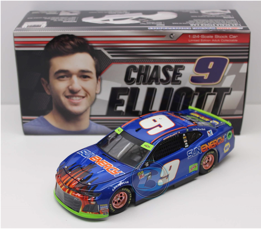 NASCAR 2018 CHASE ELLIOTT #9 SUN ENERGY ONE BLUE BLAST 1/24 DIECAST