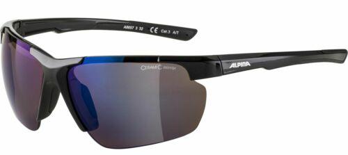 Alpina Sport Goggles Bike Glasses Sunglasses Defey HR Black Blue Disc