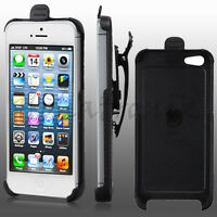 Apple Iphone 5/5s Holster Ultra Slim Hard Case Snap On Rotating Swivel Belt Clip