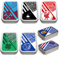 Retro Football Tobacco Tin 2oz Baccy Pill Storage Personalised Gift RF