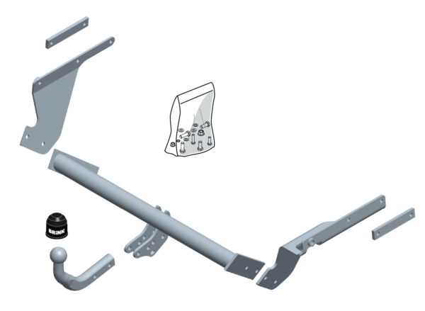 Brink Towbar For Toyota Yaris Hatchback 2010 Onwards - Swan Neck Tow Bar Crazy Prijs