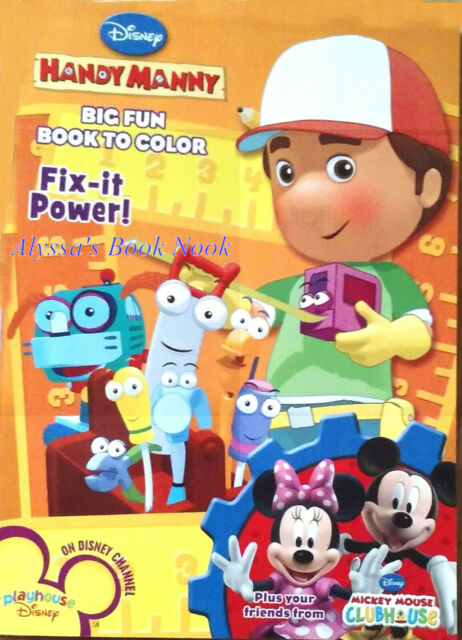- HANDY MANNY & MICKEY MOUSE CLUBHOUSE COLORING BOOK For Sale Online