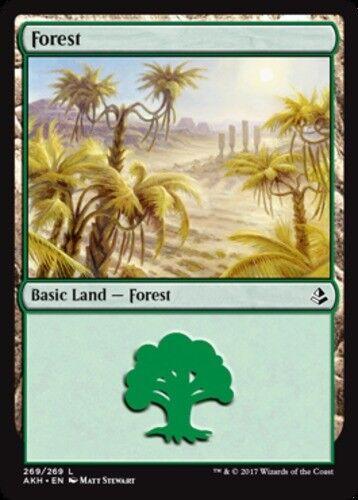 4x Forest 269//269 MTG Amonkhet NM Magic Regular