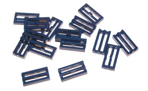 15x LEGO ® Grille-carreau//Mosaïque 1x2 2412 Nouveau bleu foncé