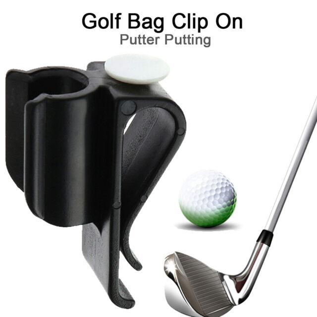 Golf Bag Club Plastic Clip On Putter Clamp Holder Putting Organizer Ball Marker
