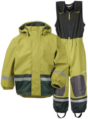 Didriksons Boardman Kid 'S Set Lined Rain Jacket Trousers Children Green