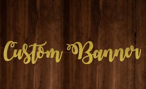 Custom Glitter Banner Personalise Banner Fancy Font Style Banner Glitter Bunting