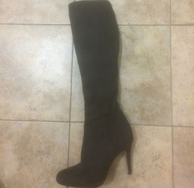 I.n.c. international concepts knee high heeled boots women size 7