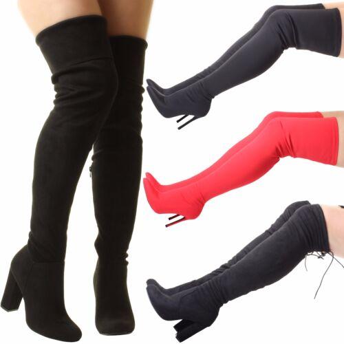 Damen schlank breit Oberschenkel über das Knie strecken hoher Absatz Stiefel