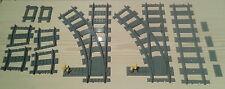 LEGO® City Eisenbahn flexibles Weichenpaar 2x links 7895 7499 7996   bricktrain