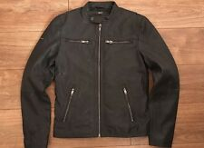 Superdry Classic Real Hero Biker Leather Jacket Mens L New With Tags Cost £200