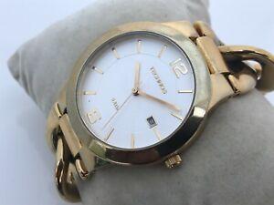 Technos Women Watch Gold Tone Analog Wrist Watch Date Calendar WR 5 ATM