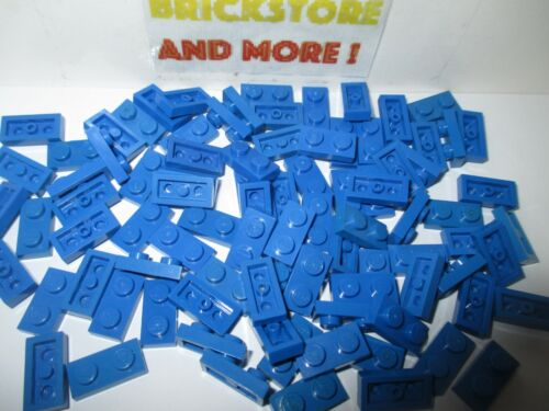 Choose Quantity x4 Plaque Plate 1x2 2x1 3023 Bleu//Blue Lego x40