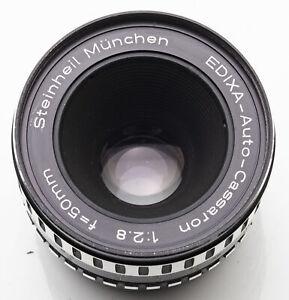 Steinheil-Muenchen-Edixa-Auto-Cassaron-1-2-8-2-8-50mm-50-M42-Anschluss-DEFEKT