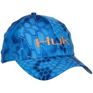 2b5bcf8e493ce HUK Logo Kryptek Stretch Fitted Fishing Hat Cap - Choose 3 Hook ...