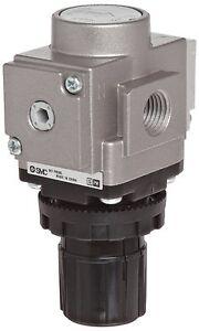 SMC-AR30-N02E-Z-Regulator-Relieving-Type-7-25-123-psi-Set-Pressure-Range
