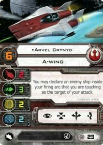 X-wing-miniatures-game-Rebel-pilot-card-Arvel-Crynyd-A-wing