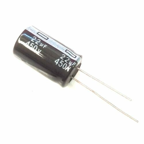 30pcs 450v 22uf 105c aluminum electrolytic capacitor 13×20mm usa ship