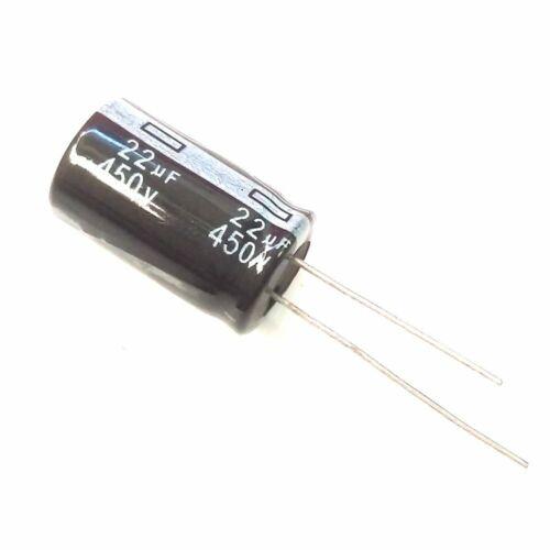 usa ship 30pcs 450v 22uf 105c aluminum electrolytic capacitor 13×20mm