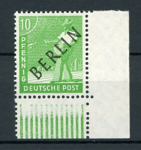 Berlin-MiNr-4-postfrisch-MNH-Eckrand-unten-rechts-geprueft-R830
