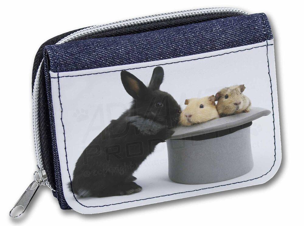 100% Vrai Rabbit And Guinea Pigs In Top Hat Girls/ladies Denim Purse Wallet Chris, Ar-10jw DernièRe Technologie