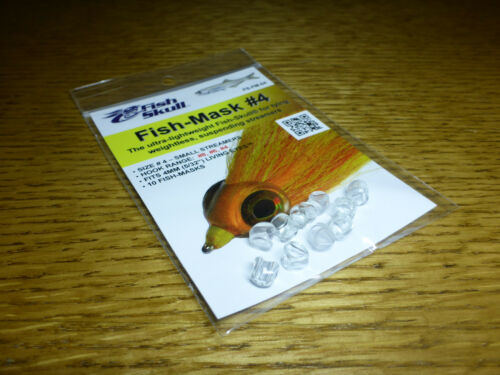 NEW FLY TYING MATERIALS 6 /& 8 FLYMEN FISH SKULL FISH MASK #4 for HOOK SIZE 4