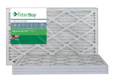 AFB Platinum Pleated HVAC AC Furnace Air Filter FilterBuy 12x20x1 MERV 13