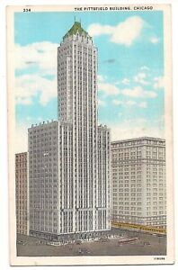PITTSFIELD-BUILDING-1933-CHICAGO-WORLD-039-S-FAIR-Illinois-Postcard-IL-1937