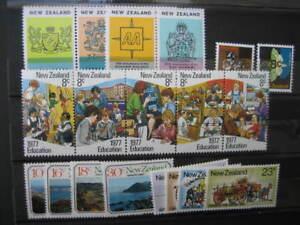 100% De Qualité Nouvelle-zélande 1977 -5 Nhm Sets Distinctive Pour Ses PropriéTéS Traditionnelles