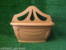 6 X 31CM TERRACOTTA VENETIAN WALL PLANTER POT BASKET PLASTIC PLANT OUTDOOR