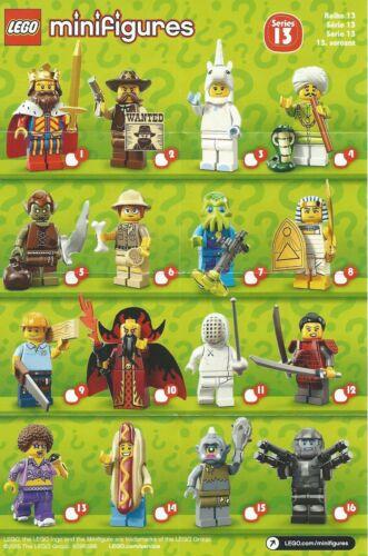 Le Charmeur de serpents N°4 NEUF LEGO MINI FIGURINE /& FIGURE Série 13 /& 71008
