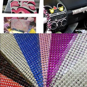 1000x New Bulk Sheet Self Adhesive Diamantes Stick Clear Rhinestone Gems Craft