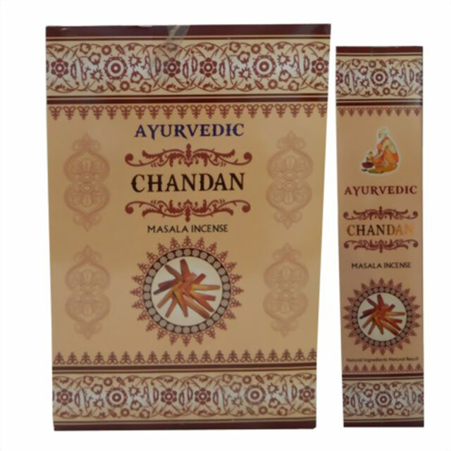 Indian Agarbatti Fragrance 3 x Goloka Nag Champa Räucherstäbchen 15 g