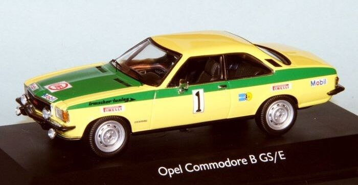 OPEL Commodore GS E rallye ratisbonne 1973 röhrl Berger  1 transformation scala 43 1 43
